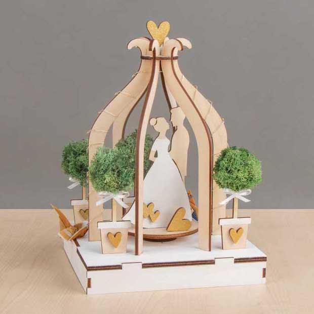 Hochzeitspaar, 3D Holzbausatz von RAYHER