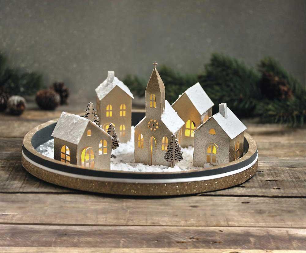 Lichterstadt, 3D Holzbausatz von RAYHER