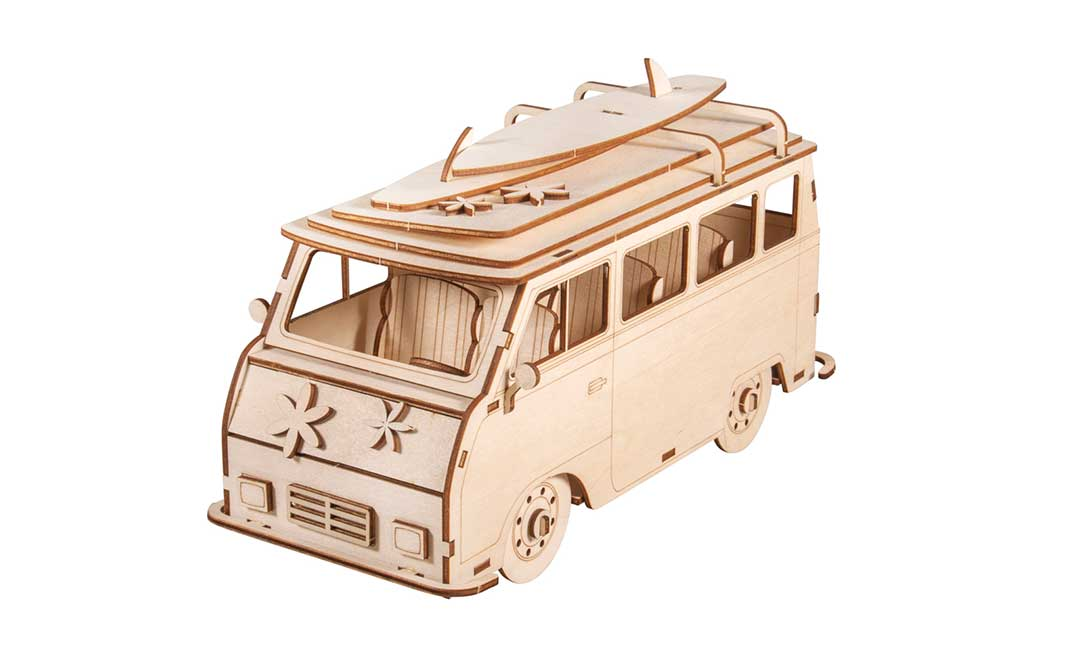 Wohnmobil, Holz-Fahrzeug, 3D Holzbausatz von RAYHER